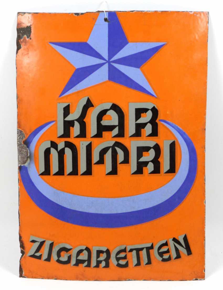 Advertising Sign *Karmitri Cigarette* - photo 1