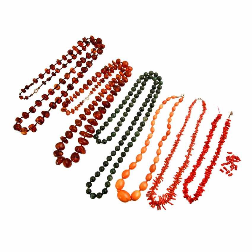 Ювелирные изделия стопку бумаг 6 каменными цепями, - фото 1