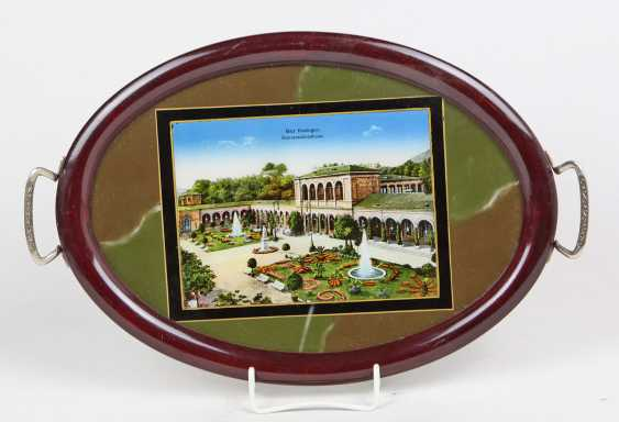 Tray with view lithograph - photo 1