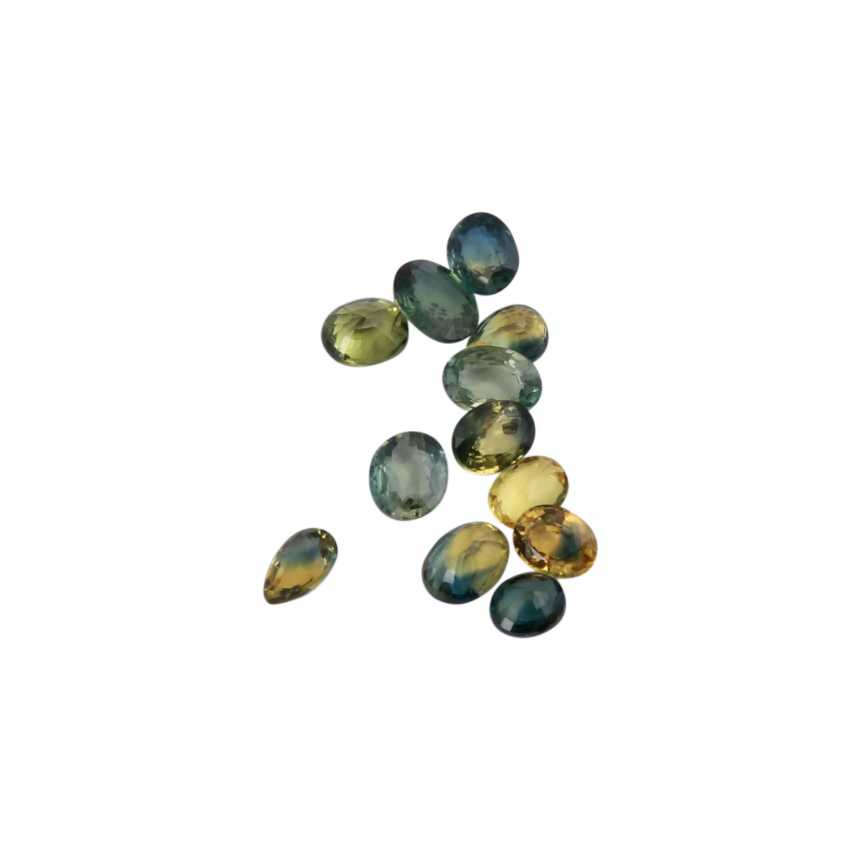 Collection of small colored sapphires, - photo 1