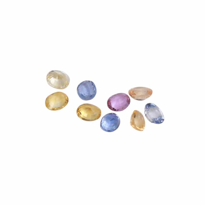 Collection of small colored sapphires, - photo 2