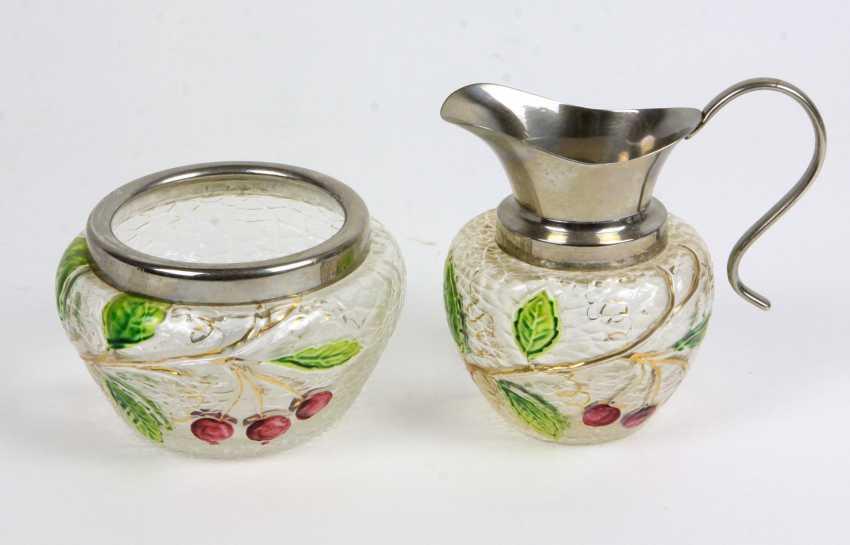 Sugar bowl and cream jug-1920s - photo 1