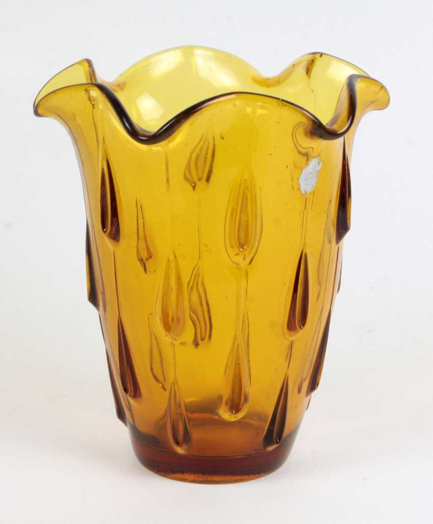 Pressglas Vase - photo 1