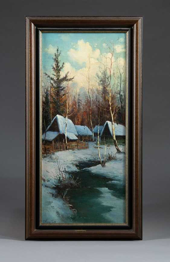 """Painting """"village in Novgorod in the Winter"""". - photo 1"""