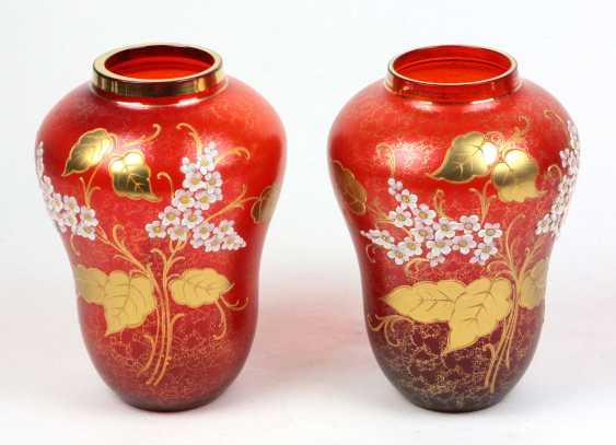 Vase pair, enamel painting - photo 1