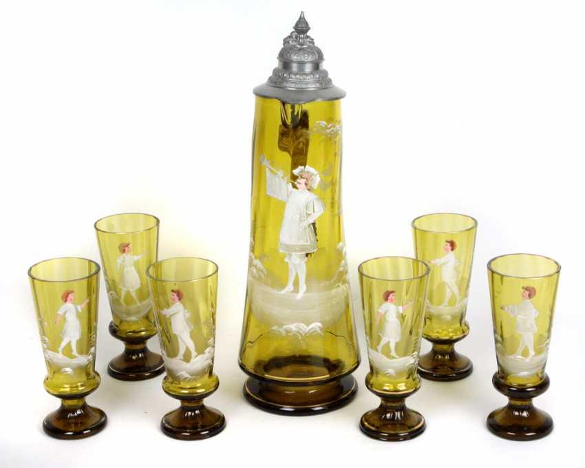 Schenk pitcher with cups set around 1880 - photo 1