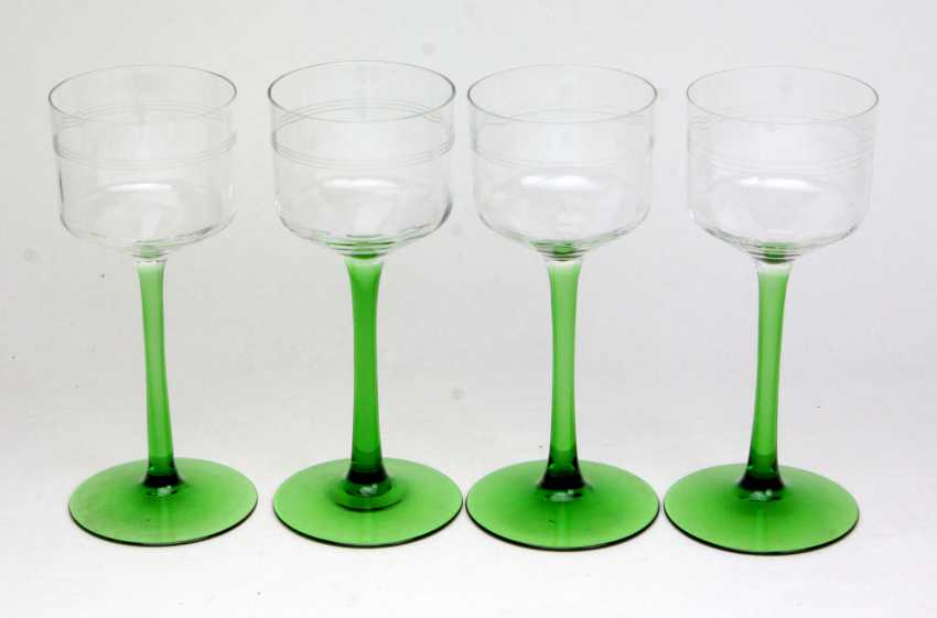 Set of art Nouveau style Wine glasses, circa 1920 - photo 1