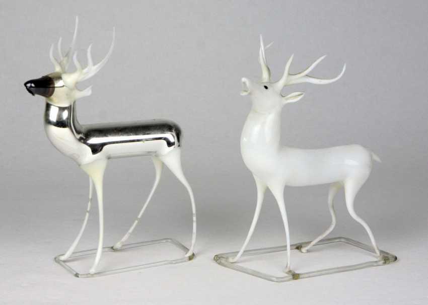 2 Deer Figurines Eavesdropping - photo 1