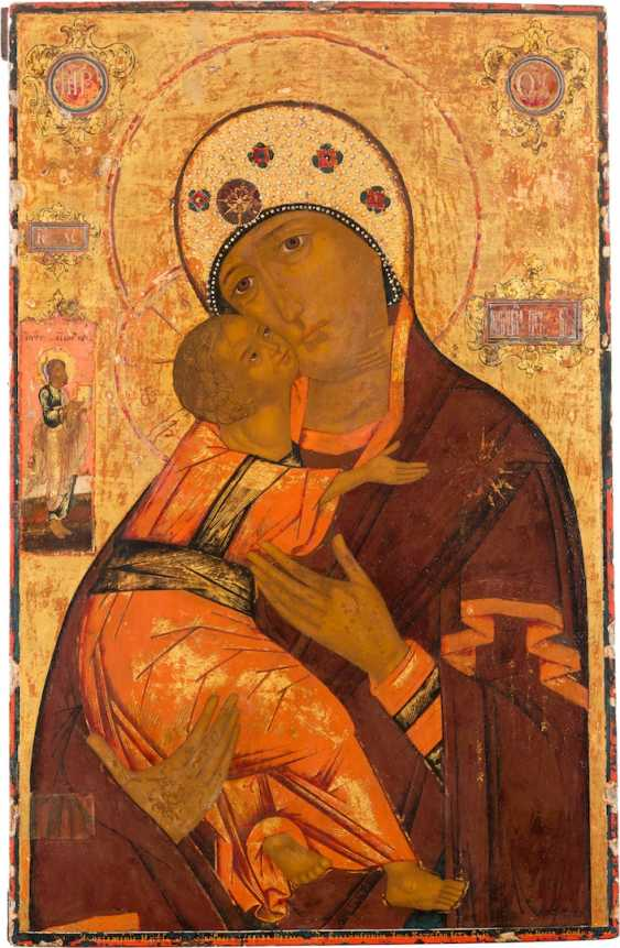 SIGNIFICANT LARGE-SCALE ICON OF THE MOTHER OF GOD WLADIMI - photo 1