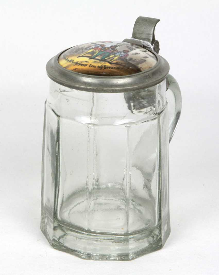 Beer mug painted porcelain lid to 1880/90 - photo 1