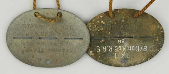 Small collection of 14 dog tags, - photo 6