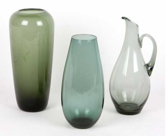 Smoke glass vases & pitcher - photo 1