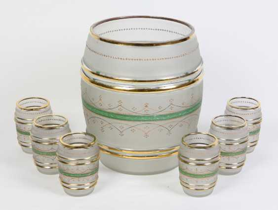 Punch bowl with cups set to 1860/80 - photo 1