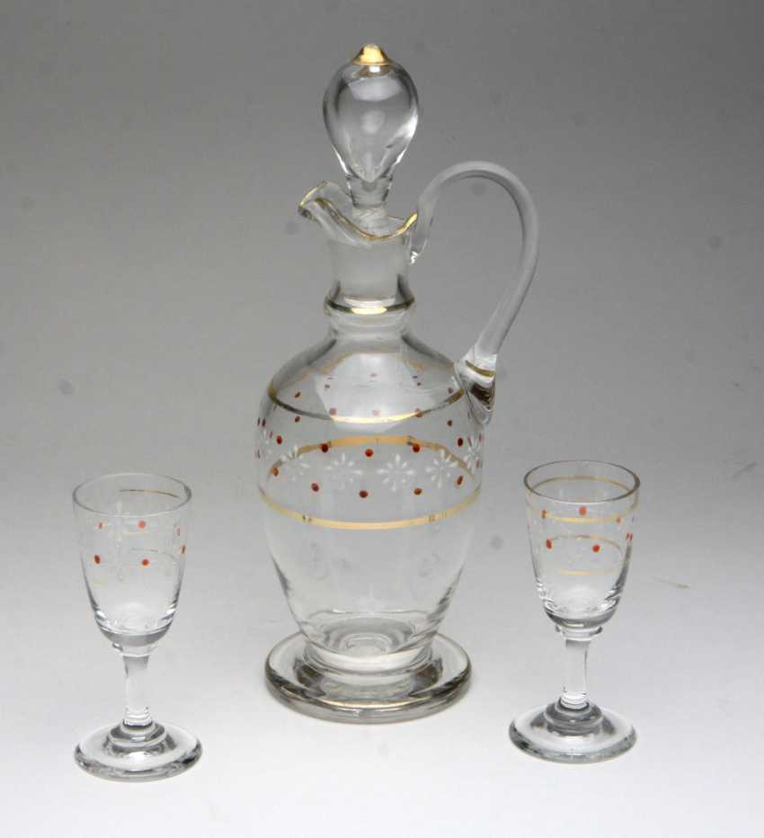Decanter with 2 liqueur glasses - photo 1