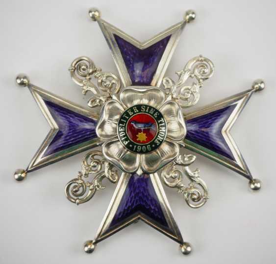 Lippe-Detmold: Leopold Order, 3. Model (from 1917), Grand cross of honour, in a case. - photo 2