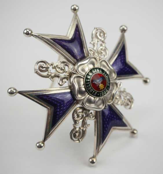 Lippe-Detmold: Leopold Order, 3. Model (from 1917), Grand cross of honour, in a case. - photo 7