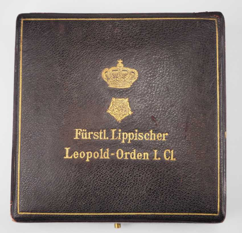 Lippe-Detmold: Leopold Order, 3. Model (from 1917), Grand cross of honour, in a case. - photo 8