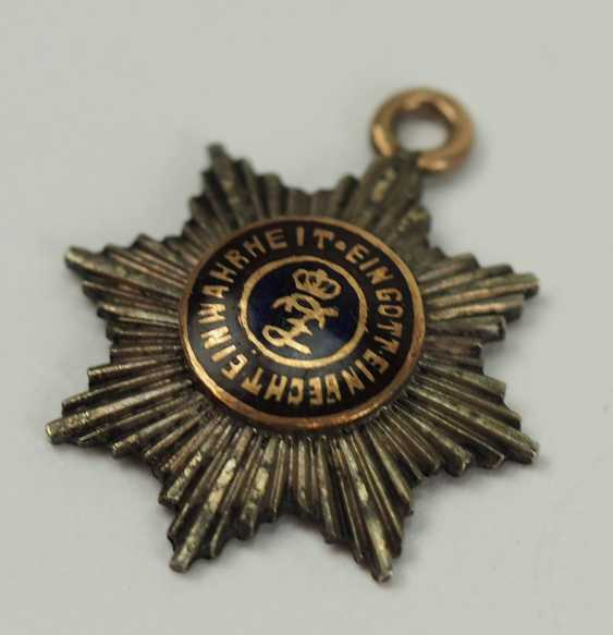 Oldenburg: house - and merit order of Peter Frederick Louis, Grand cross breast star miniature. - photo 2