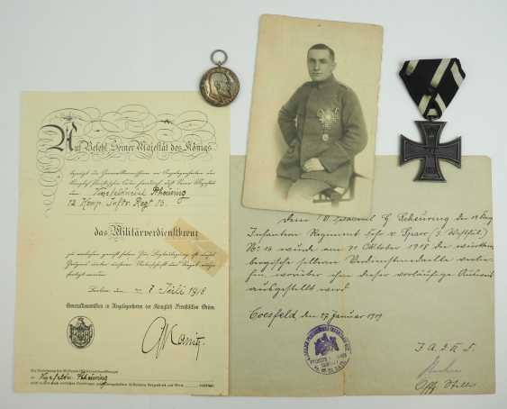 Prussia: property of staff Sergeant Hermann Scheuring, 12./ Infantry-Regiment 16 - winner of the military cross of merit. - photo 1