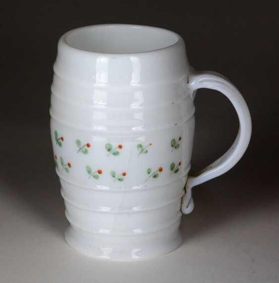 small milk glass tankards 1800 - photo 1