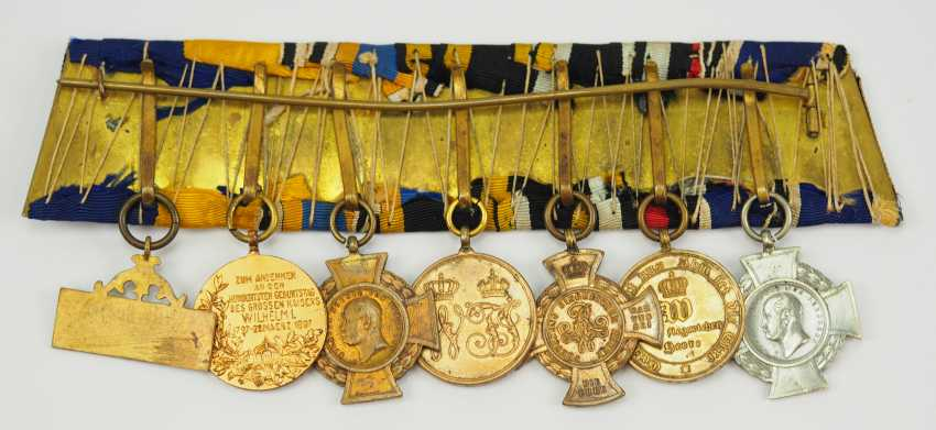 Prussia: Great medalbar of a veteran of the field trains per day travelling from 1864 to 1871. - photo 2