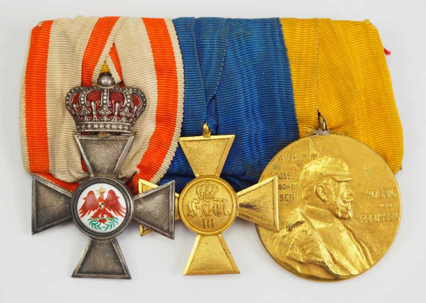 Prussia: Great medalbar of an officer with 3 awards. - photo 1