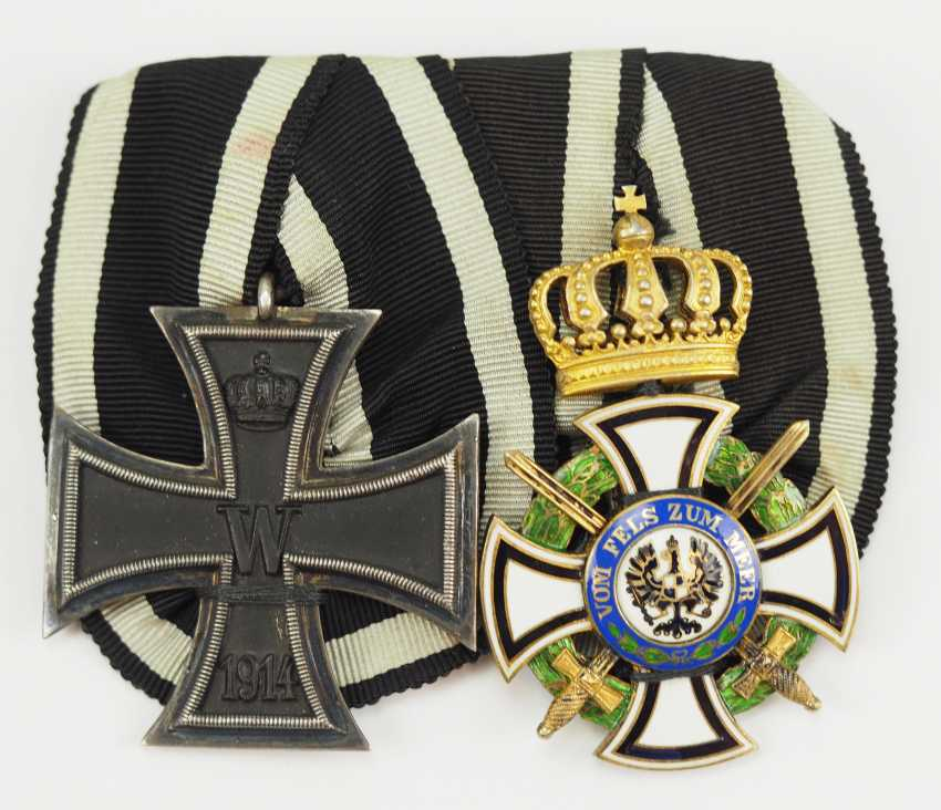Prussia: Medalbar of a brave front officer. - photo 1