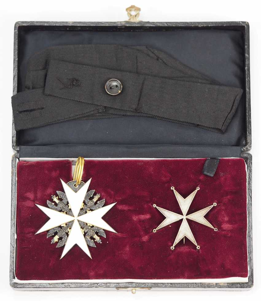 Prussia: Knights order of St. John of Jerusalem, Balley Brandenburg, knight of Honour and consecration cross, in a case. - photo 1