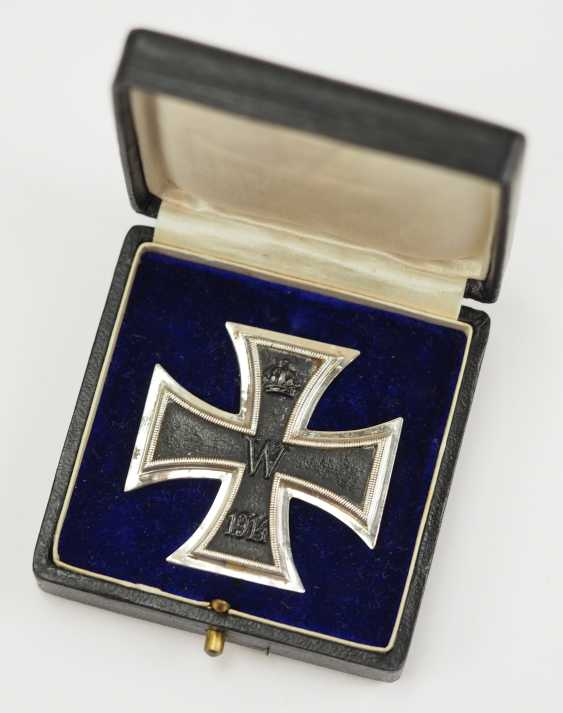 Prussia: Iron Cross, 1914, 1. Class, in a case - KAG. - photo 1
