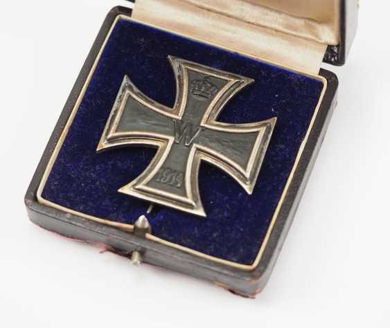 Prussia: Iron Cross, 1914, 1. Class, in a case. - photo 1
