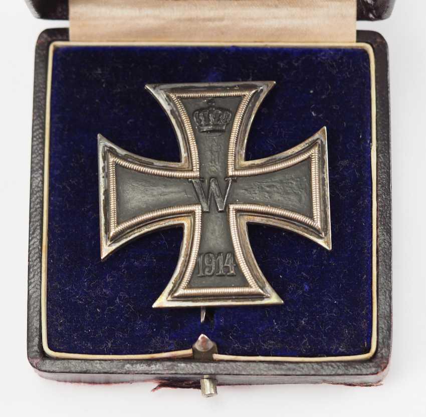 Prussia: Iron Cross, 1914, 1. Class, in a case. - photo 2