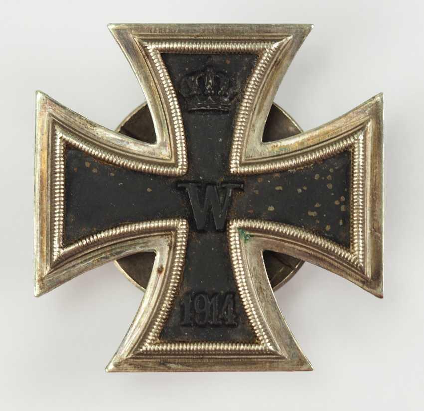 Prussia: Iron Cross, 1914, 1. Class, on Screw back L/13. - photo 1