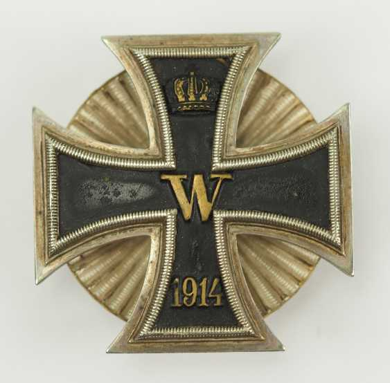Prussia: Iron Cross, 1914, 1. Class, on Screw plate. - photo 1