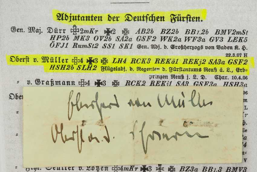 Reuss: as a reminder to the silver wedding anniversary in 1909, for princely guests. - photo 3