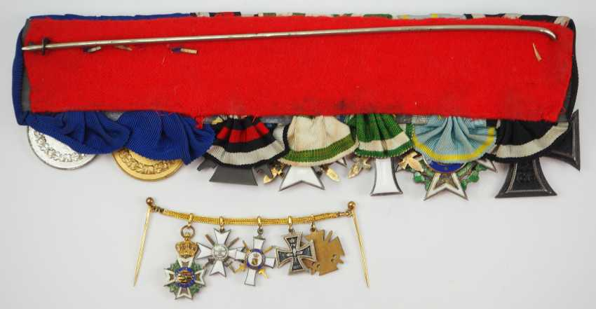 Saxony: Great medalbar with 7 awards of a brave front officer. - photo 2