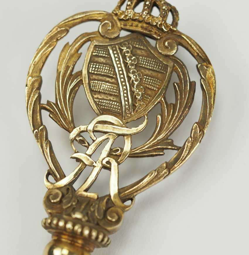 Saxony: chamber Mr key is king Friedrich August I. (1806-1827) / king Friedrich August II (1836-1854). - photo 2