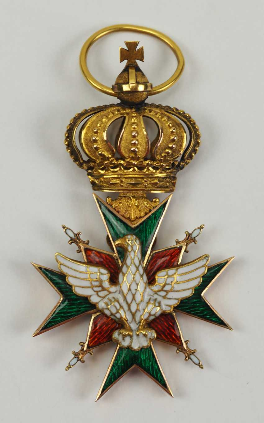 Saxe-Weimar-Eisenach: Royal Saxony house Duke of vigilance or the White Falcon, knight's cross, 1 medal. Class. - photo 1