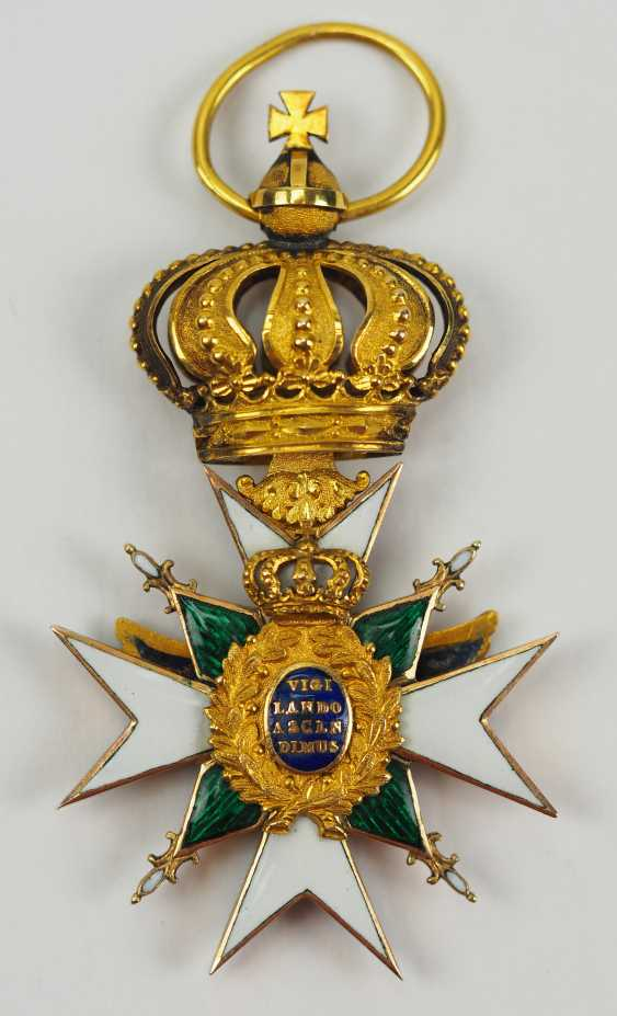 Saxe-Weimar-Eisenach: Royal Saxony house Duke of vigilance or the White Falcon, knight's cross, 1 medal. Class. - photo 3