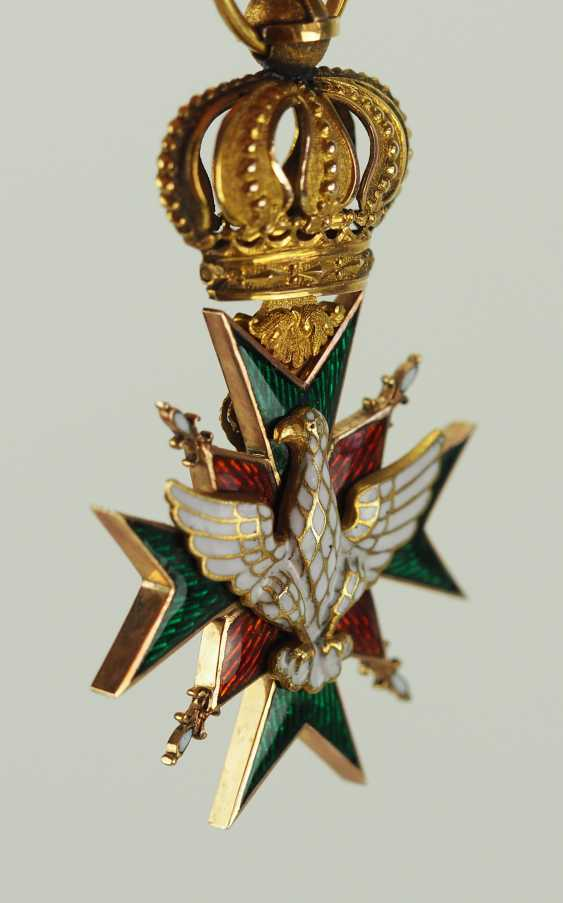 Saxe-Weimar-Eisenach: Royal Saxony house Duke of vigilance or the White Falcon, knight's cross, 1 medal. Class. - photo 4