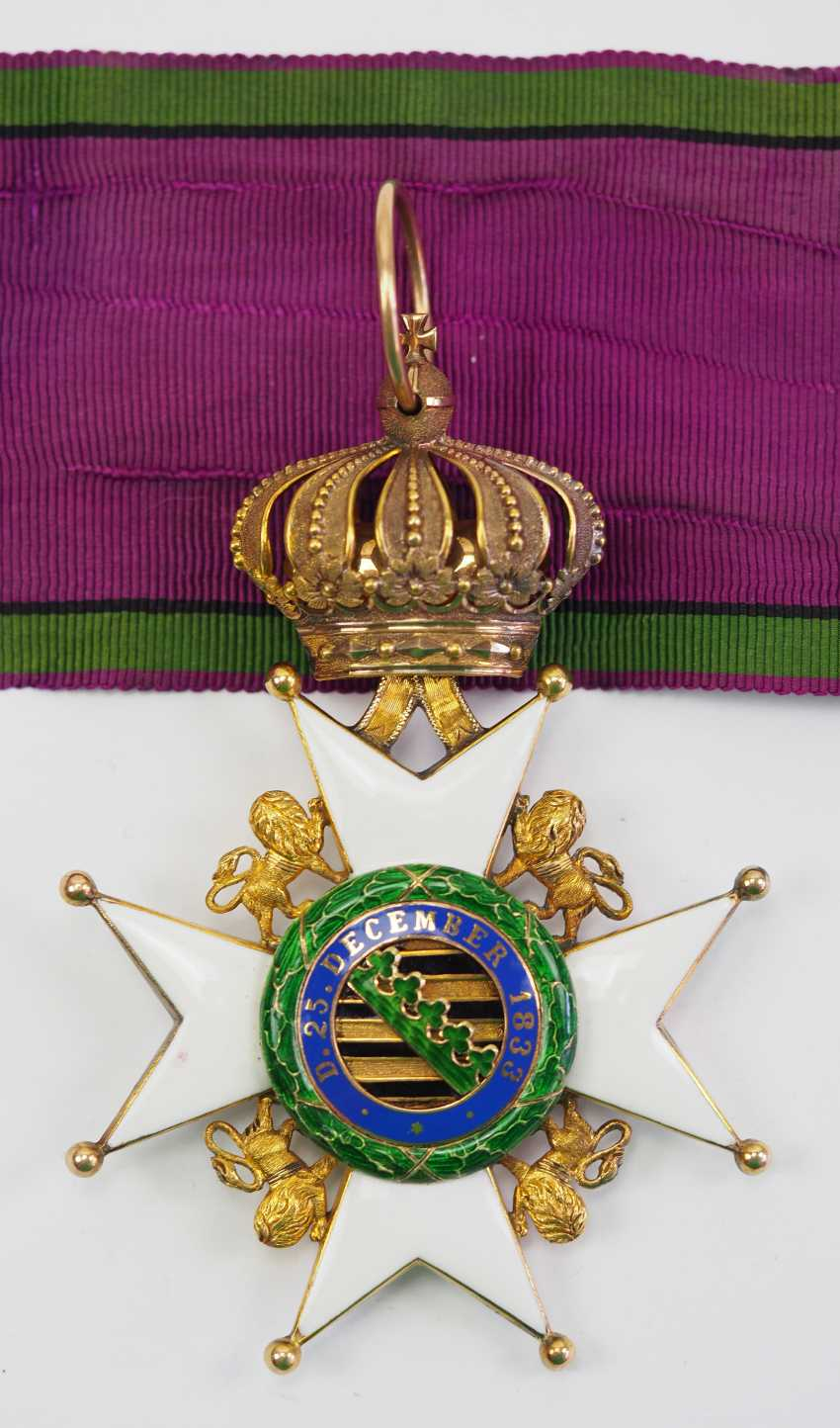 Saxon Duchies: Ducal Saxony Ernesti Order Of The House, 2. Model (1864-1935), Comtur Cross. - photo 3