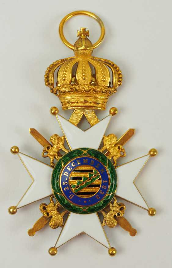 Saxon Duchies: Ducal Saxony Ernesti Order Of The House, 2. Model (1864-1935), Knights Cross 1. Class with swords. - photo 3