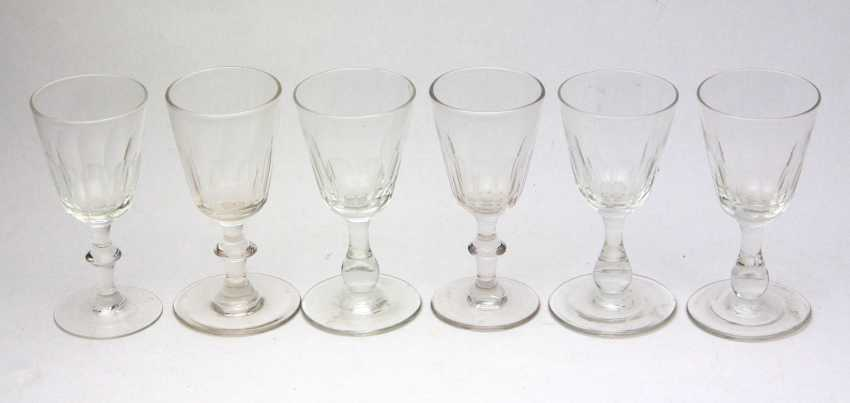 6 goblet glasses 1890/1900 - photo 1