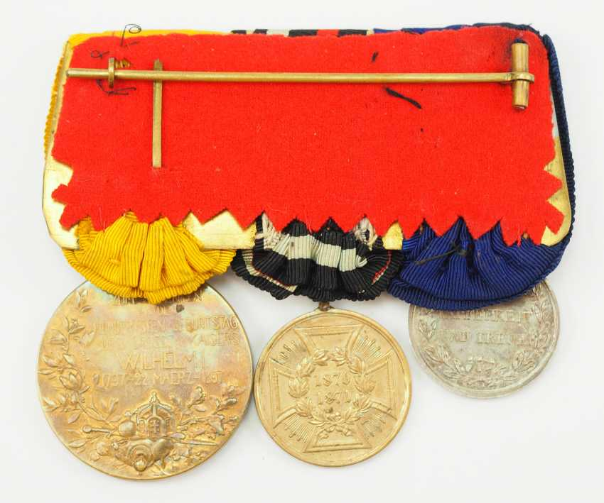 Württemberg: Medalbar of a brave veteran of the Franco-Prussian war of 1870/71. - photo 3