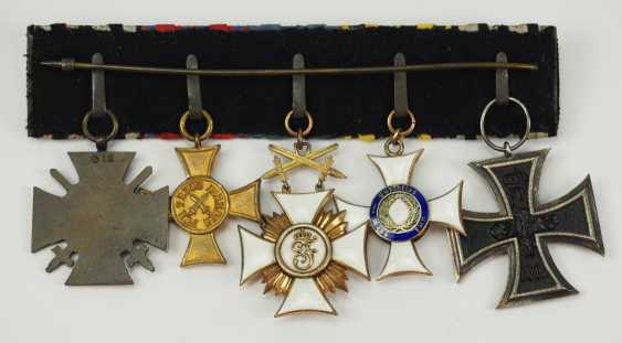 Württemberg: medalbar of a front officer with 5 decorations. - photo 3