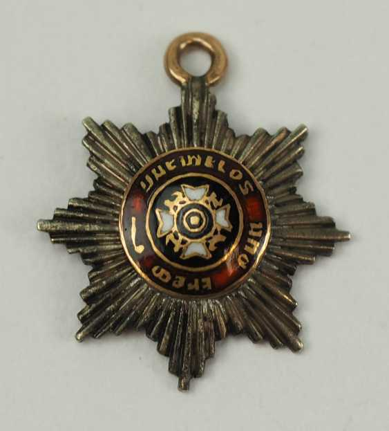 Württemberg: order of the Württemberg crown, breast star for a Sovereign in miniature. - photo 1