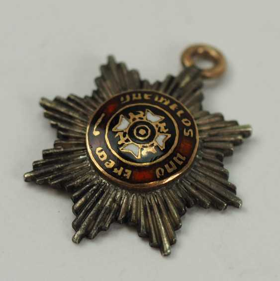 Württemberg: order of the Württemberg crown, breast star for a Sovereign in miniature. - photo 2