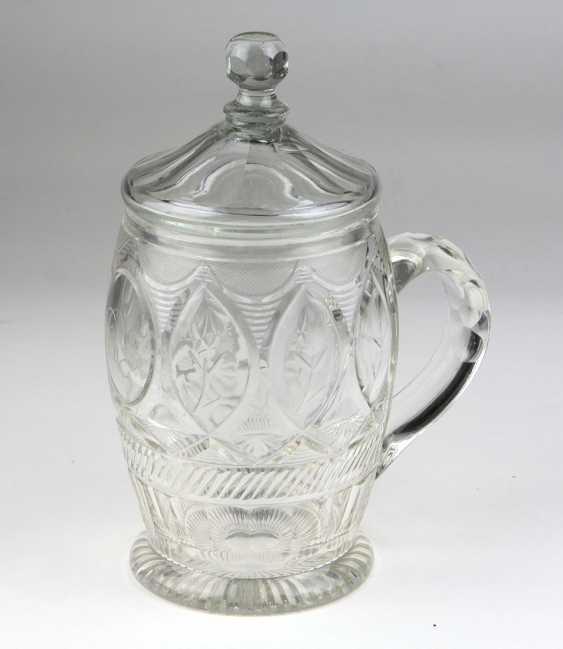 Biedermeier lid tankard to 1840 - photo 1