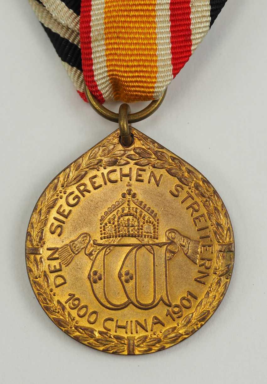 German Empire: China medal, Bronze. - photo 2