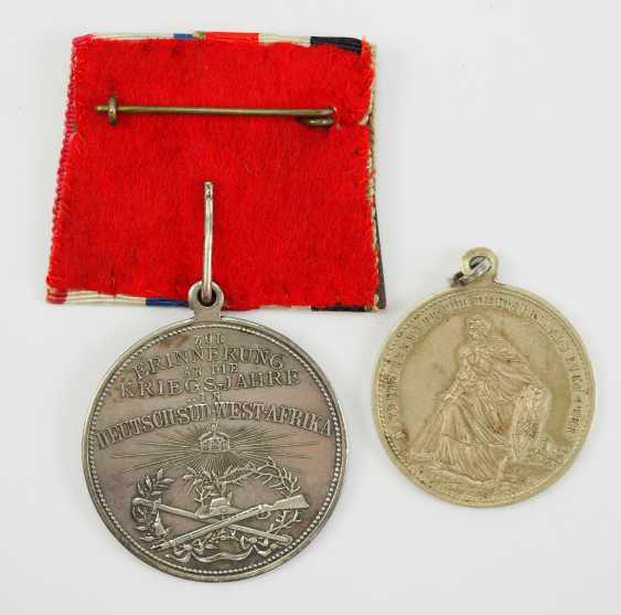 German Empire: German South West Africa - Lot of 2 Patriotic medals. - photo 2