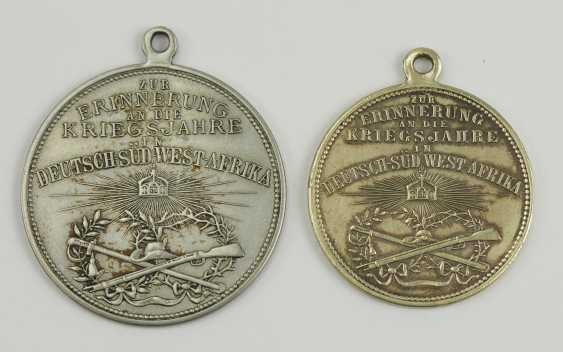 German Empire: German South West Africa - Lot of 2 Patriotic medals. - photo 1